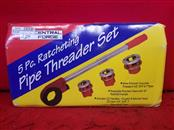 """Central Forge 3/8"""" to 2"""" Ratcheting Pipe Threader Set with Blow-Mold Carrying Ca"""